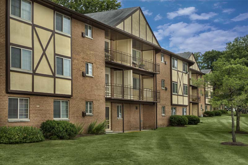 Balconies and patios at Gateway Square Apartments in Temple Hills, MD
