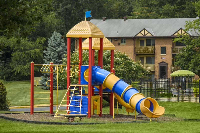 Central play area at Gateway Square Apartments in Temple Hills, MD