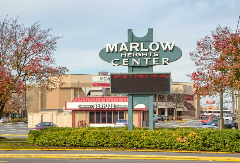 Marlow Heights Center is 5 minutes from Gateway Square Apartments in Temple Hills, MD