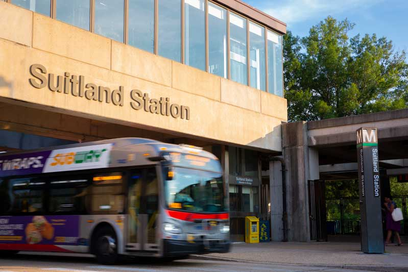 5 minutes to Suitland Metro station near Gateway Square Apartments