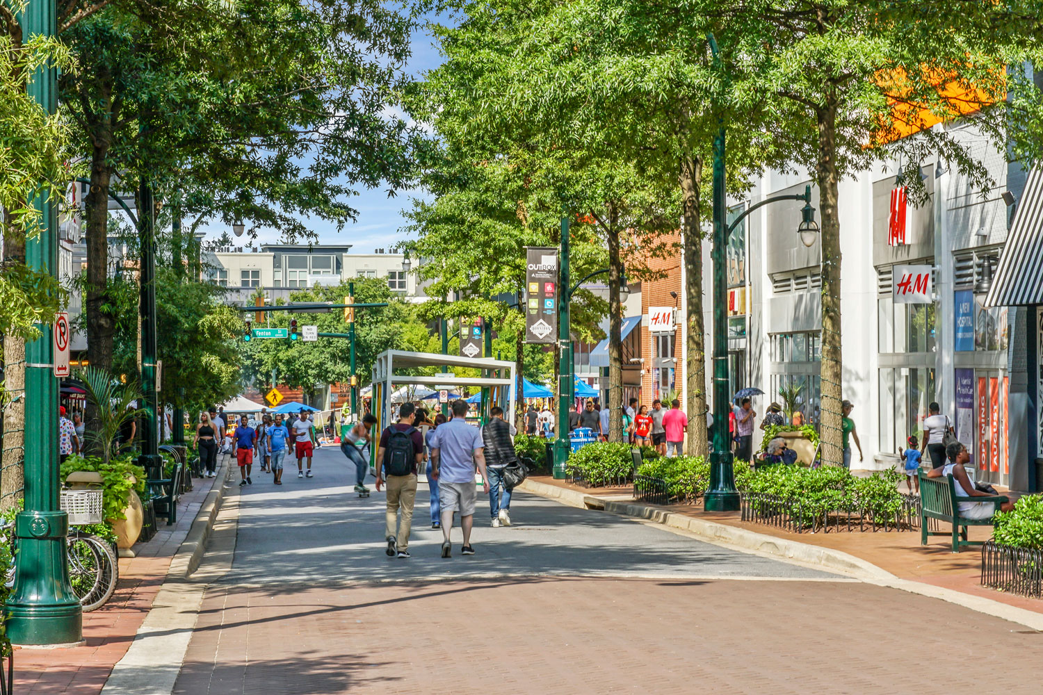 Shopping, dining, entertainment in Downtown Silver Spring, MD