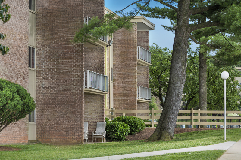 Patio or balcony at Governor Square Apartments in Gaithersburg, MD