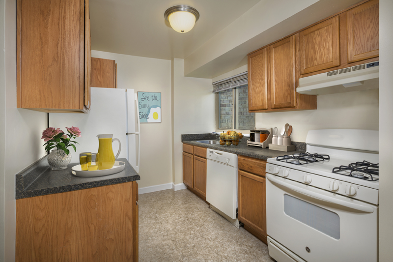 Fully-equipped kitchen at Governor Square Apartments in Gaithersburg, MD