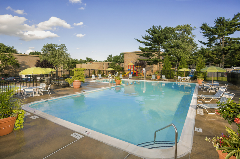 Relaxing swimming pool at Governor Square Apartments in Gaithersburg, MD
