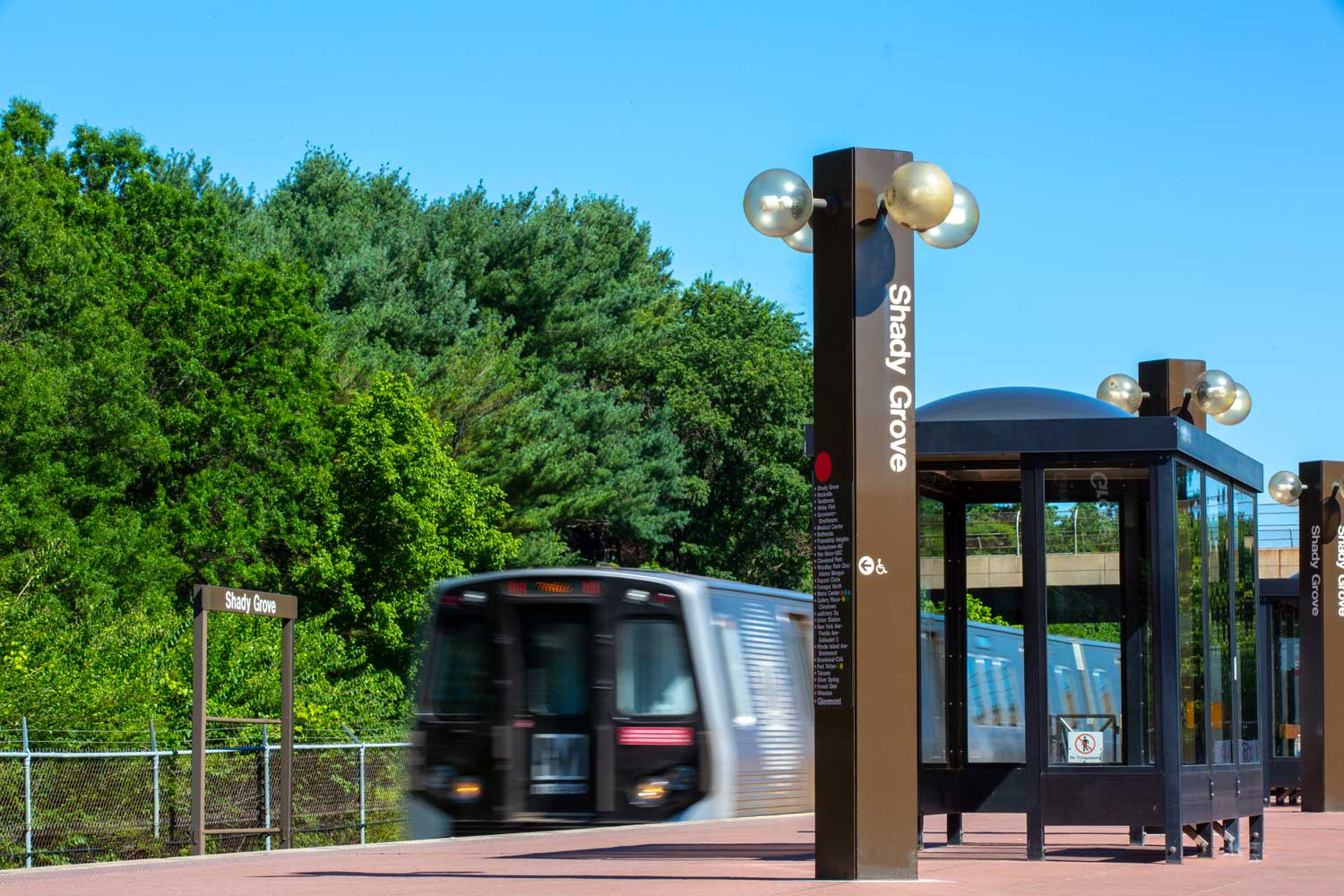 Shady Grove Metro station is 10 minutes from Governor Square Apartments