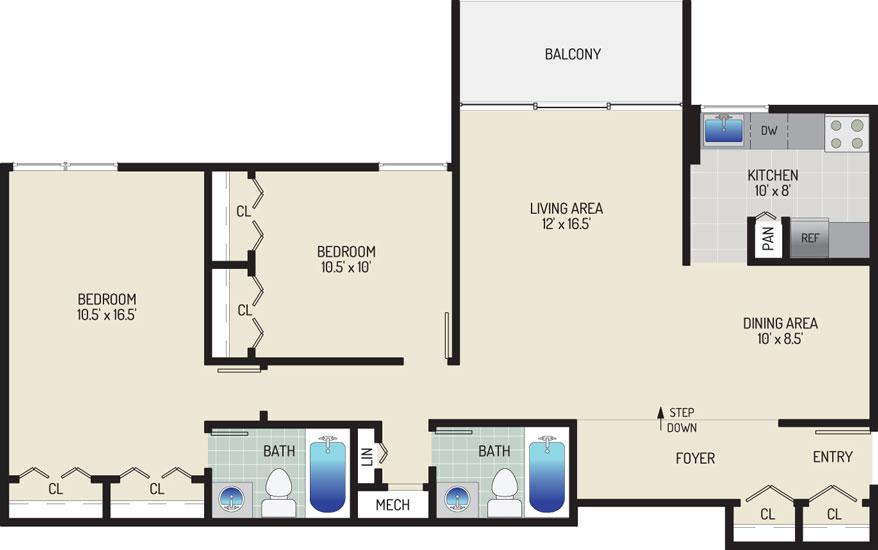 Governor Square Apartments - Apartment 23423-104-J2