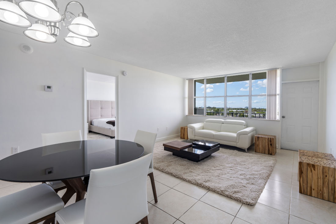 Living Area  at Grand Island Square Apartments in North Miami Beach, Florida