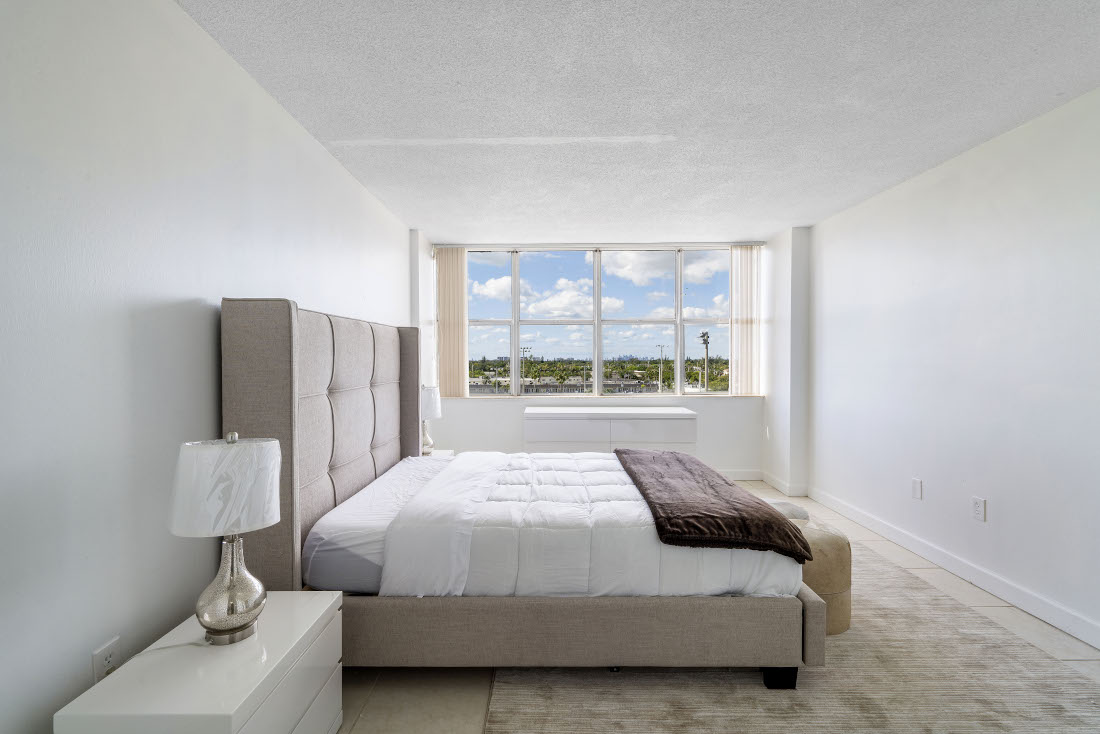 Window View from Bedroom  at Grand Island Square Apartments in North Miami Beach, Florida