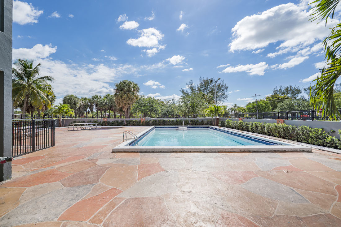 Resort Style Pool  at Grand Island Square Apartments in North Miami Beach, Florida