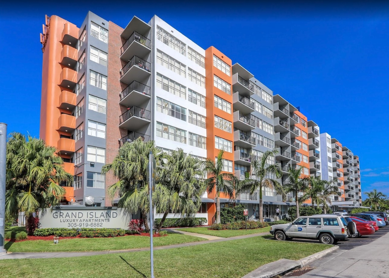 One, Two and Three-Bedroom Apartments at Grand Island Square in North Miami Beach, Florida
