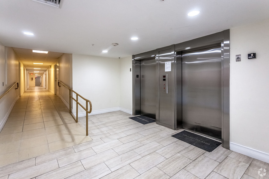 Elevator Access at Grand Island Square Apartments in North Miami Beach, Florida