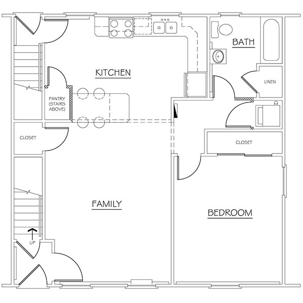 Floorplan - 1BR image
