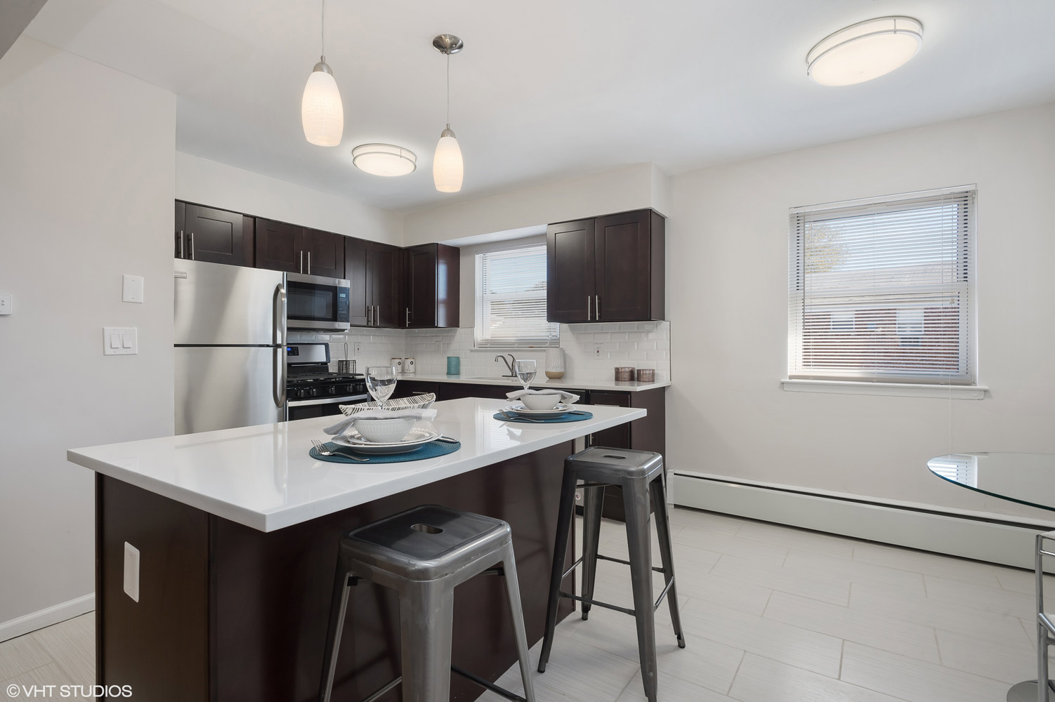 Built-in Microwave at Grandview Gardens Apartments in Edison, New Jersey