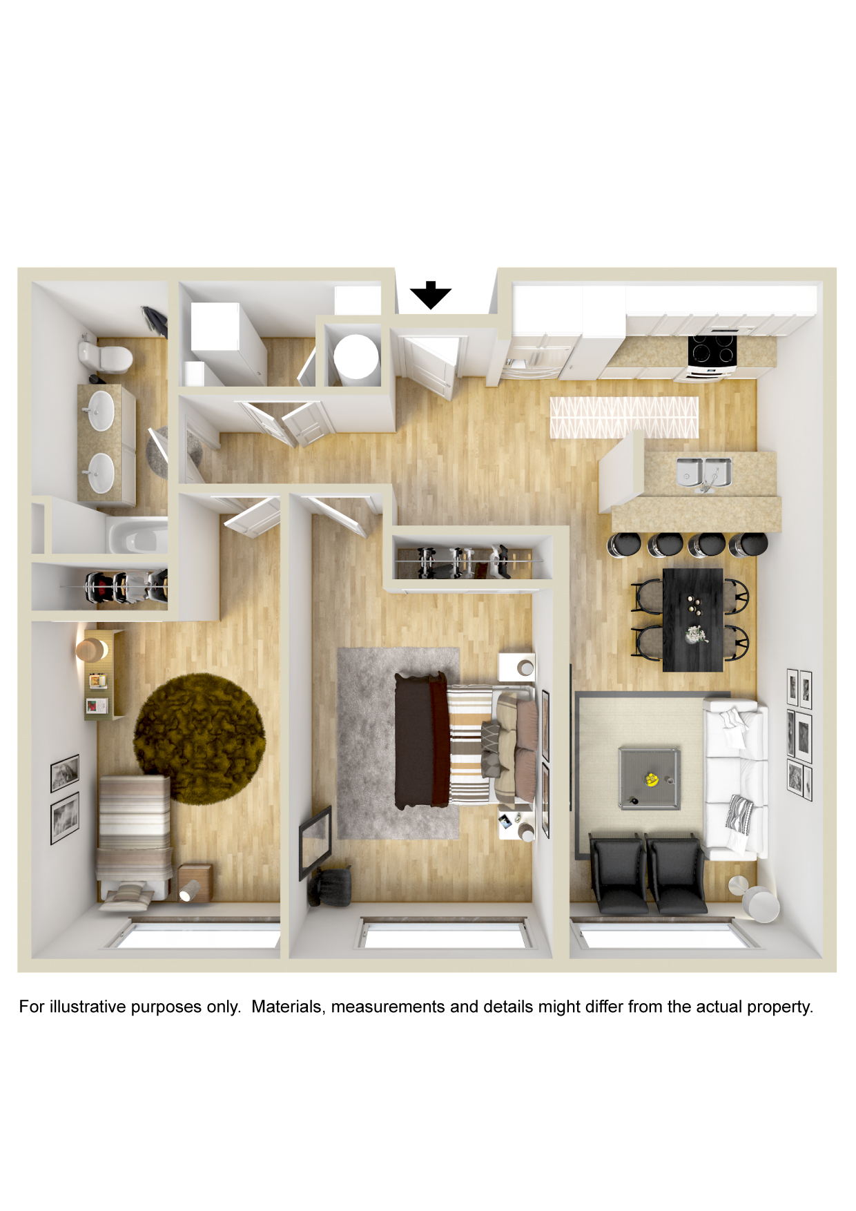 GreenArch Apartments Tulsa - Floorplan - Archer