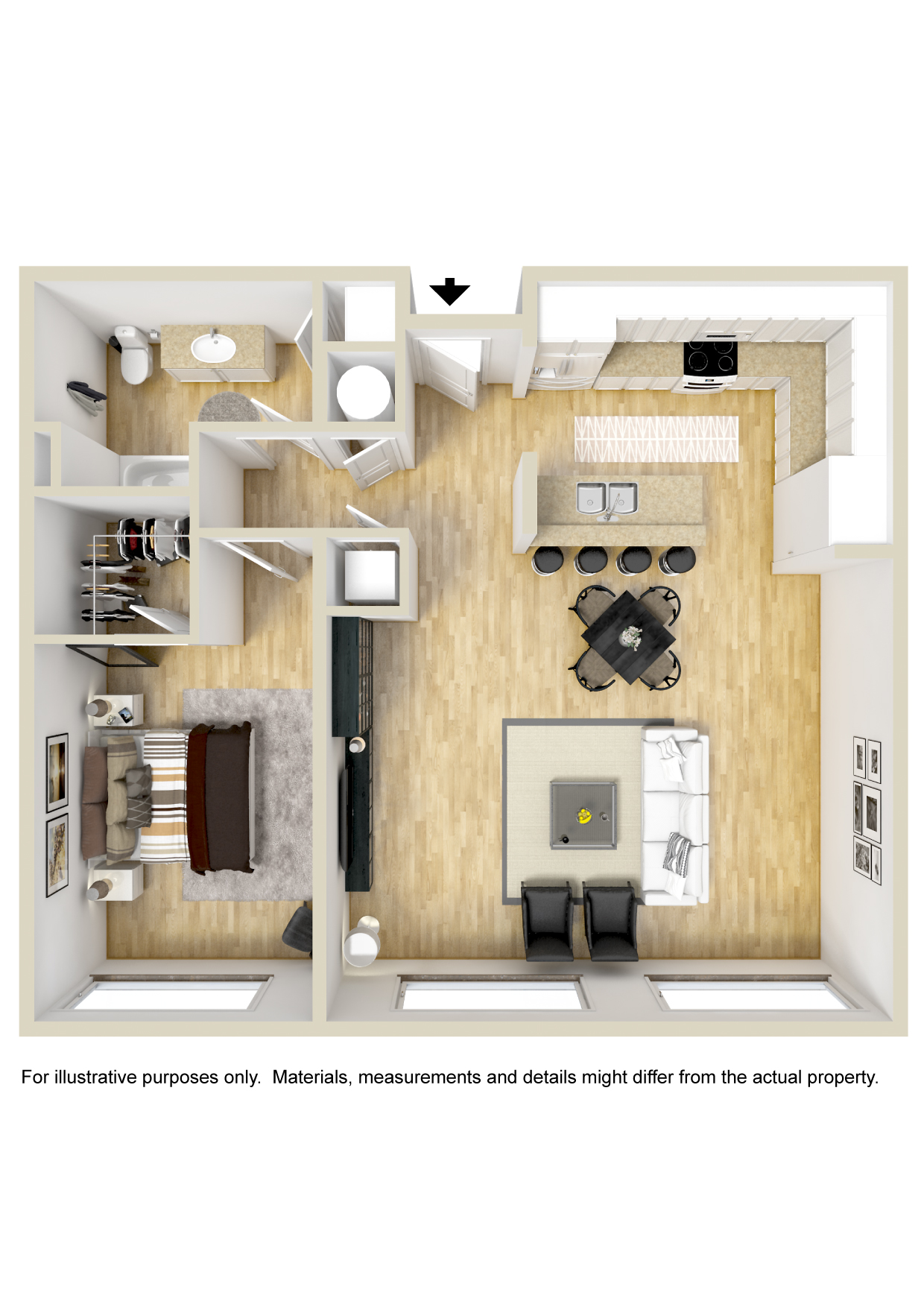 GreenArch Apartments Tulsa - Floorplan - Stradford