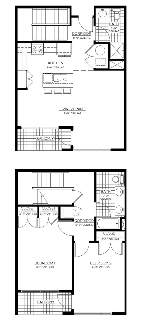 GreenArch Apartments Tulsa - Floorplan - Gurley