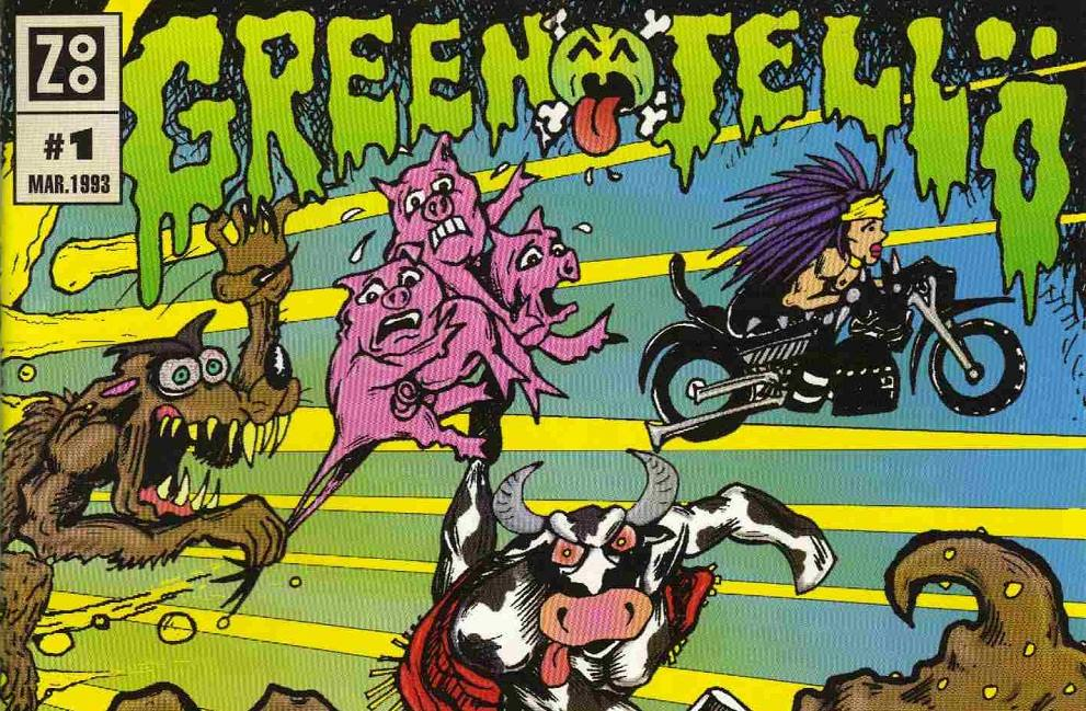 a comparison of original version and green jellys version of the story the three little pigs