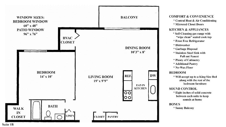 Greenridge on Euclid - Floorplan - 1B (1 Bedroom 1 Bath)