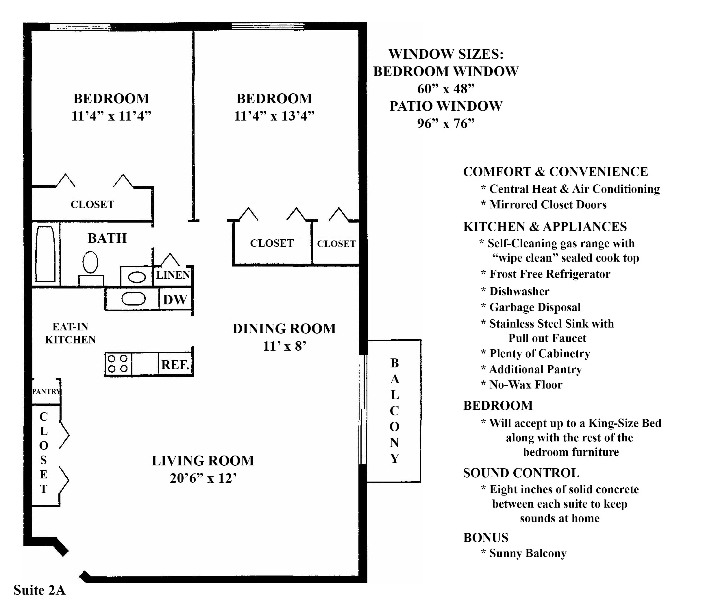 2A Floorplan at the Greenridge on Euclid Apartments in Euclid, OH