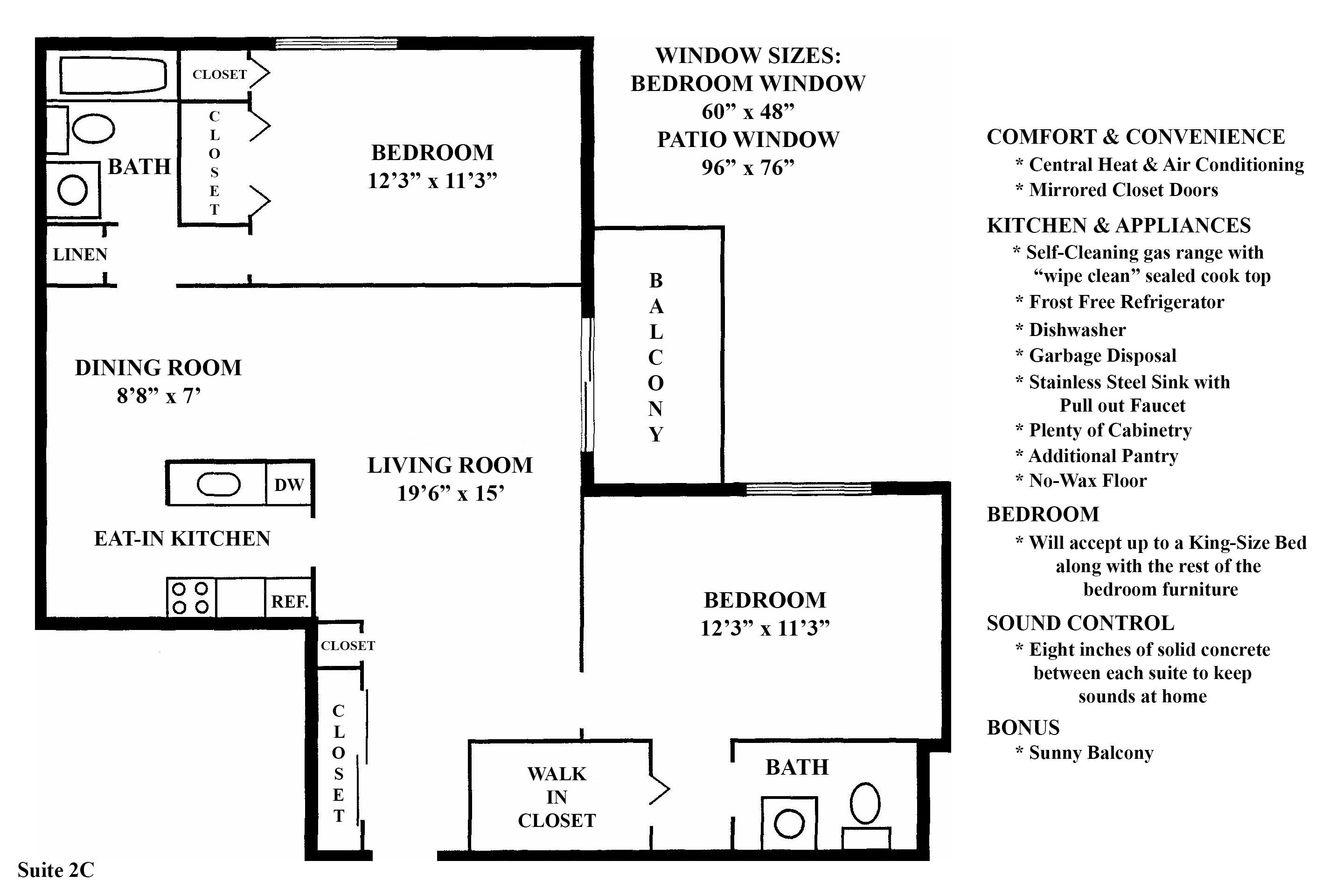 2C Floorplan at the Greenridge on Euclid Apartments in Euclid, OH