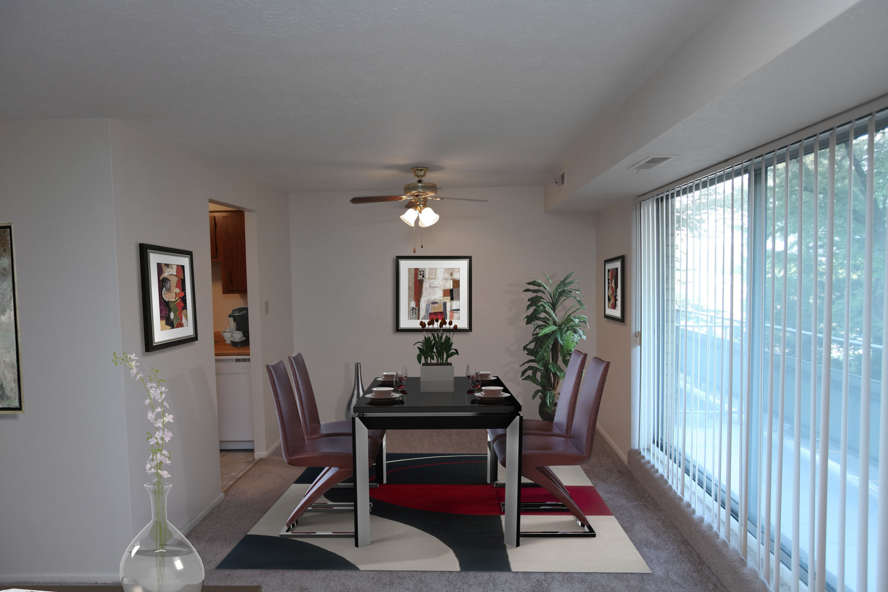 1B Dining Room Furnished at the Greenridge on Euclid Apartments in Euclid, OH