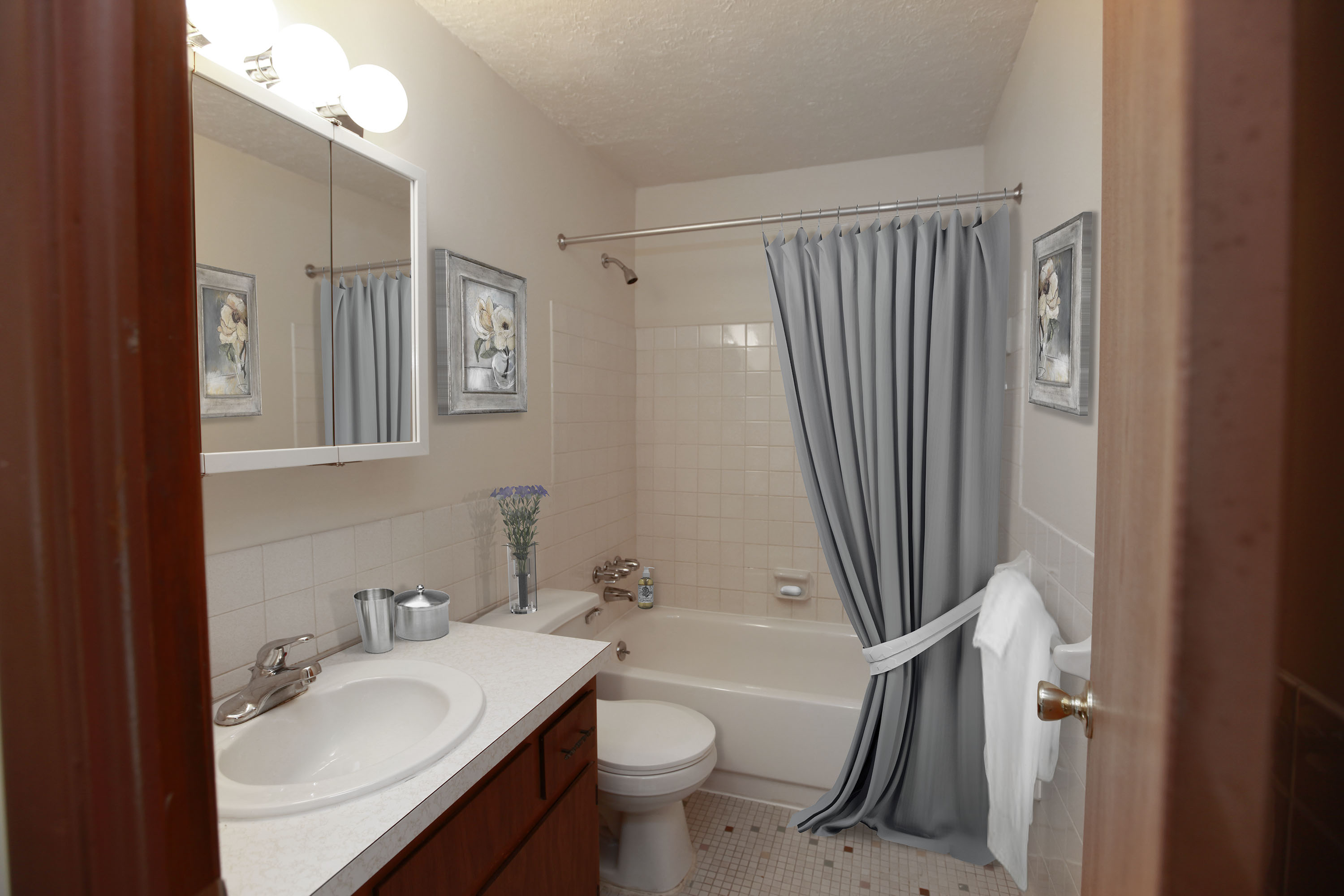 2C Bathroom at the Greenridge on Euclid Apartments in Euclid, OH
