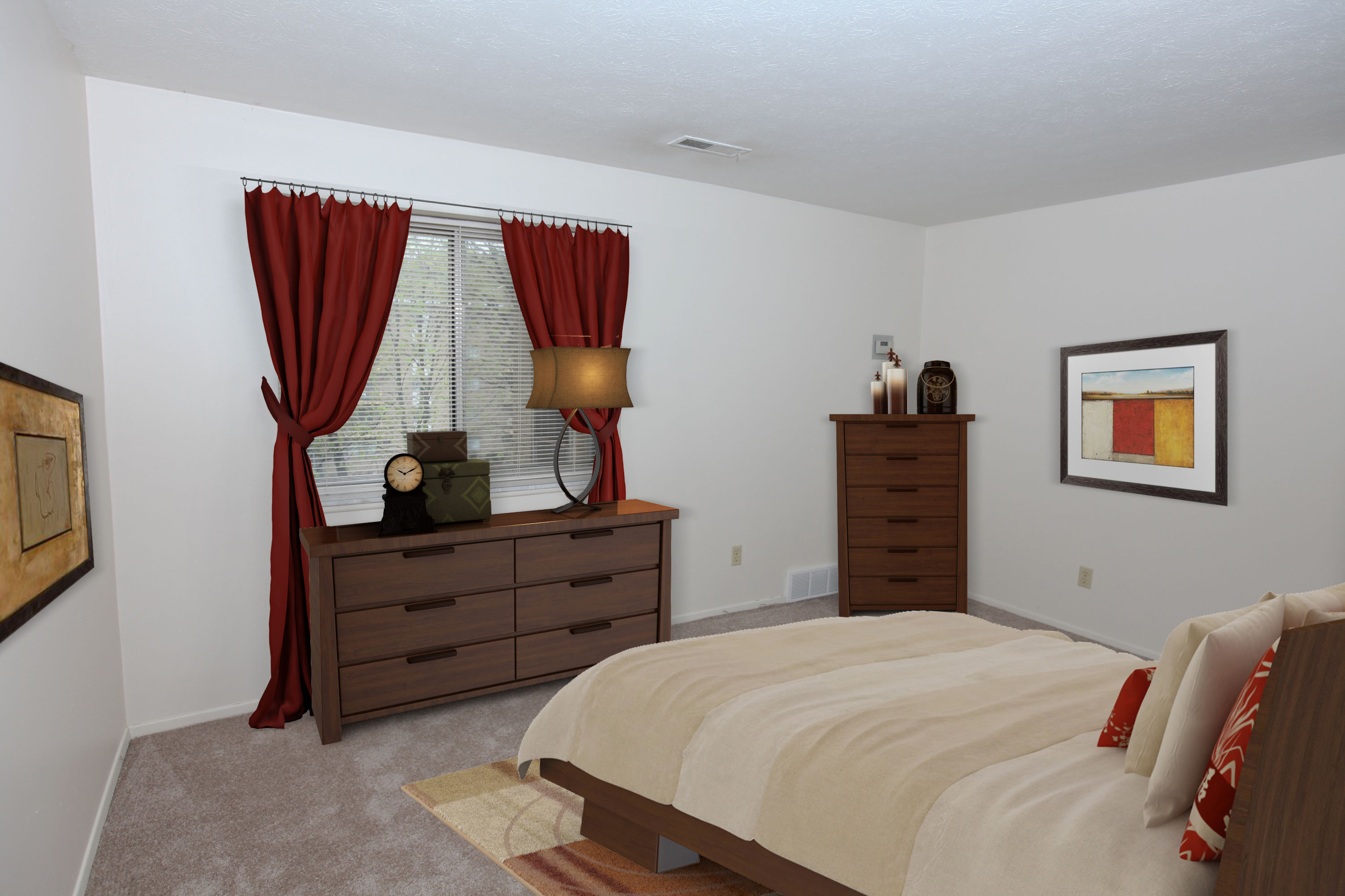 1A Bedroom Furnished at the Greenridge on Euclid Apartments in Euclid, OH
