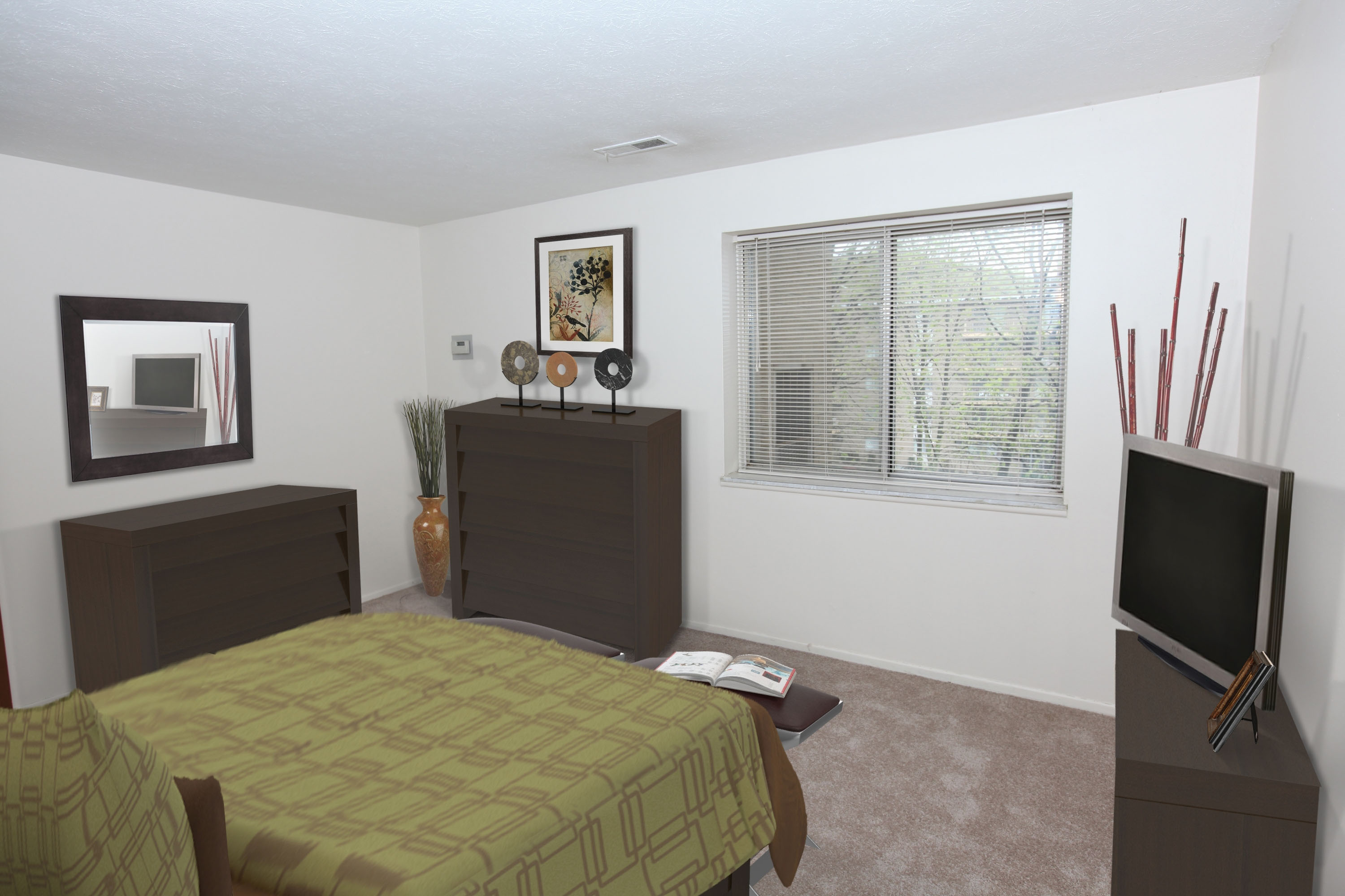 1B Bedroom Furnished at the Greenridge on Euclid Apartments in Euclid, OH