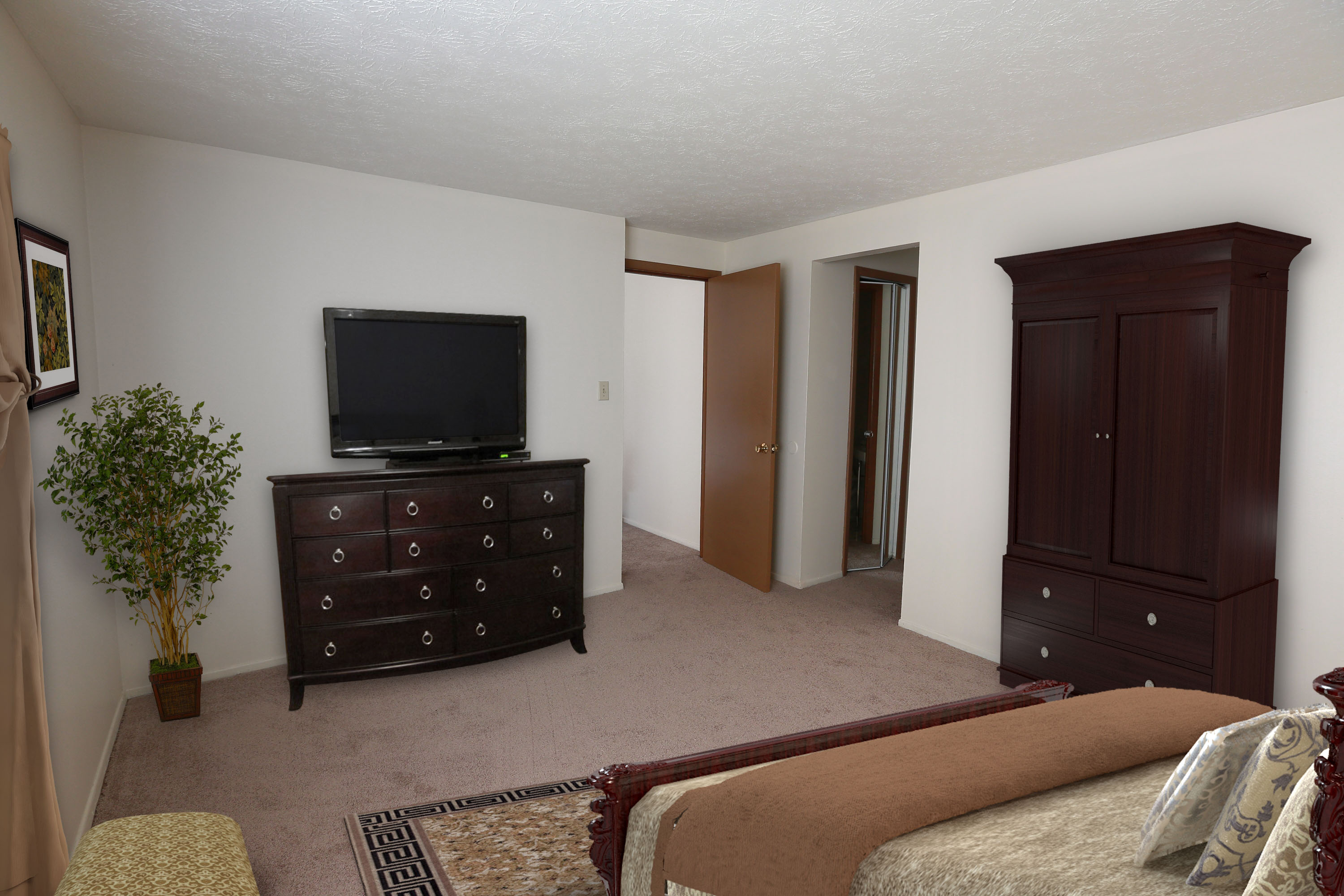 2B Bedroom #1 Furnished at the Greenridge on Euclid Apartments in Euclid, OH