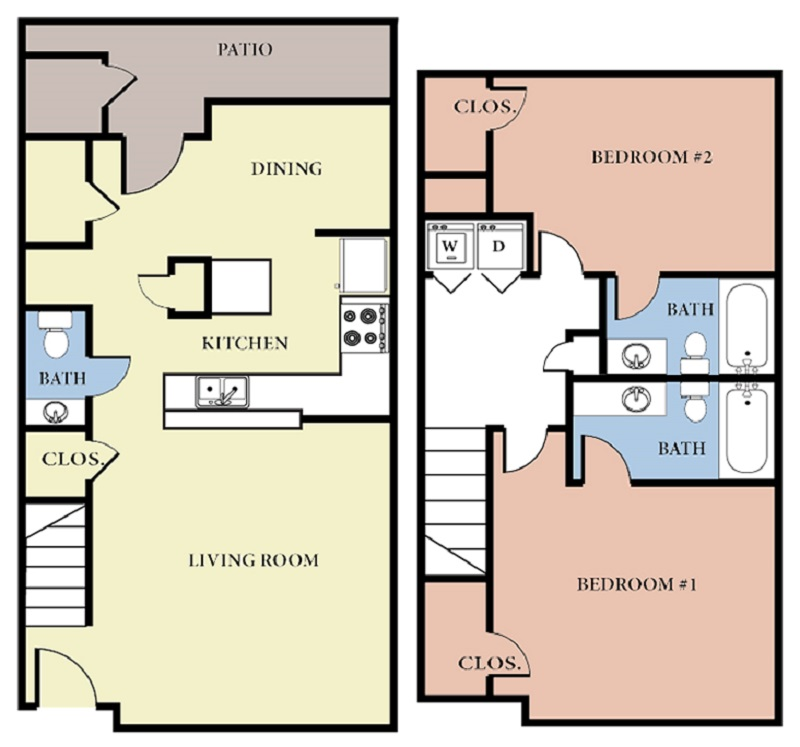 Greens At Stonecreek Apartments - Floorplan - 2 Bedroom - C