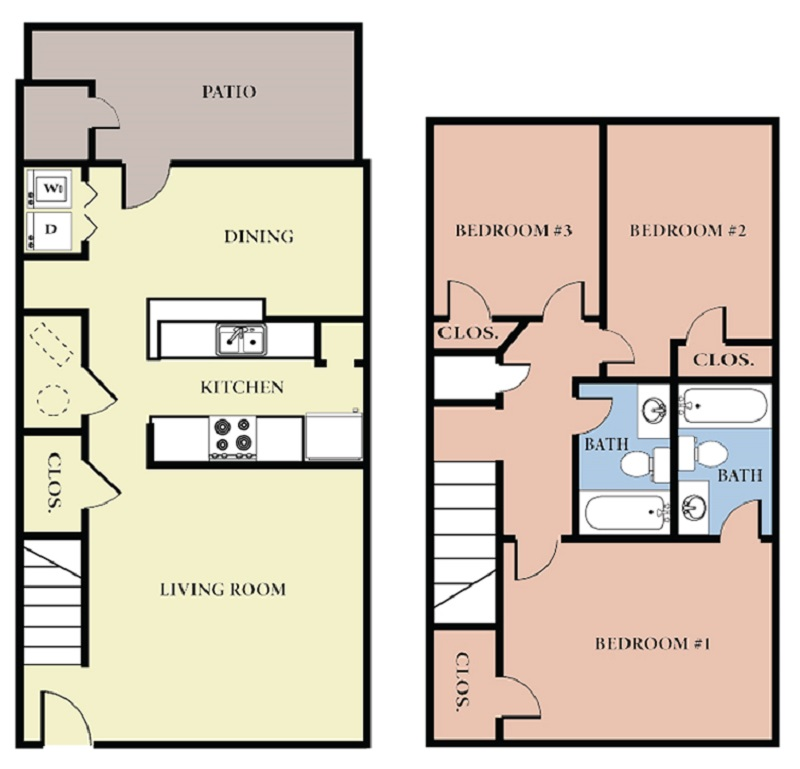 Floorplan - 3 Bedroom - A image