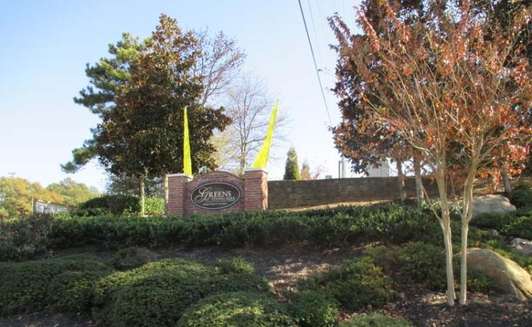 Welcome Sign at the Greens At Stonecreek Apartments in Lithonia, GA