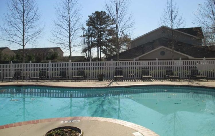 Sparkling Pool at the Greens At Stonecreek Apartments in Lithonia, GA