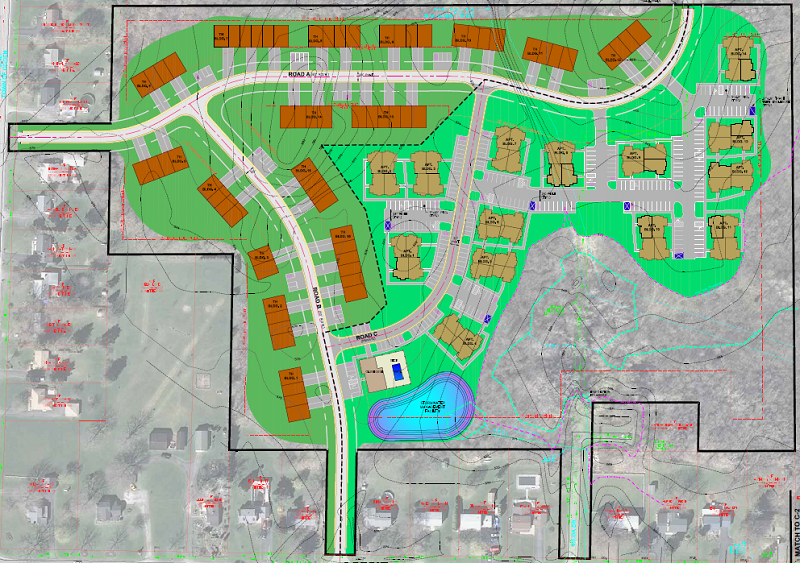Greenwood Park Luxury Apartments & Townhomes Site Plan