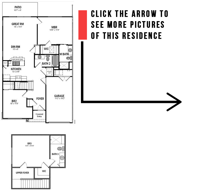 Floorplan - 3 Bedroom 3 Bath Townhouse image