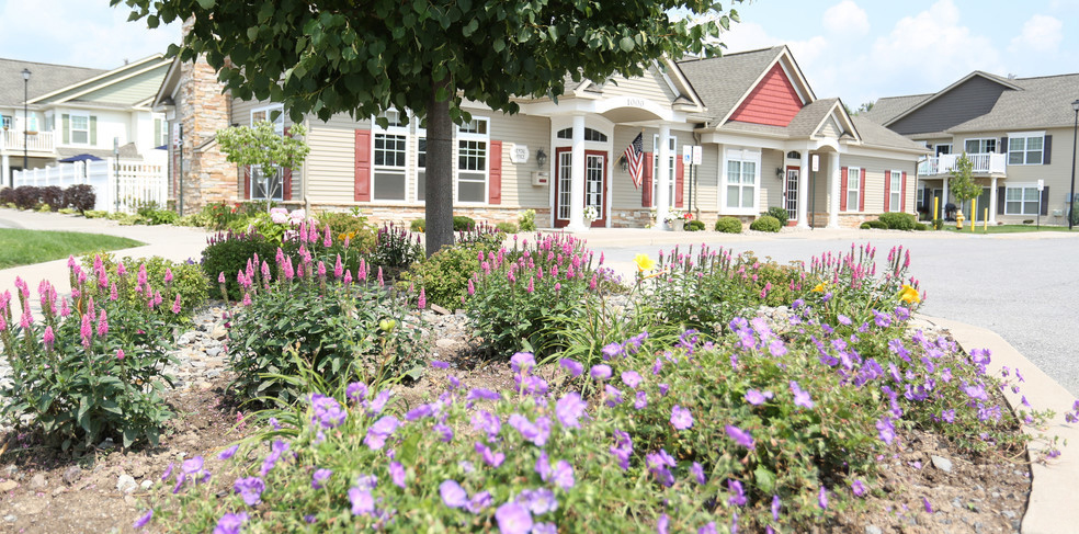 Lush Landscaping at Green Wood Park Apartments in Ogden, KS