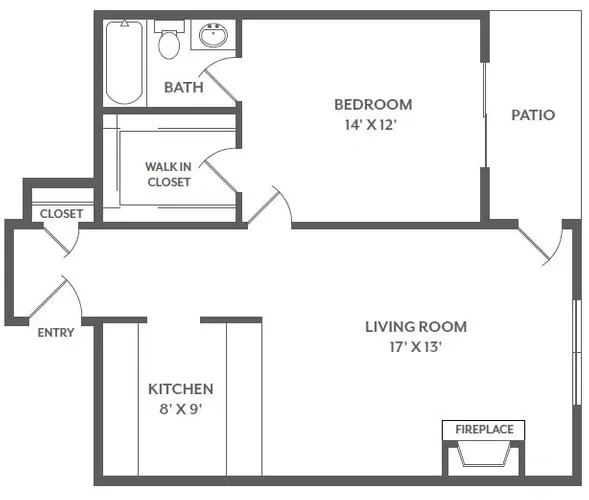 The Grove on Gladstell - Floorplan - 1 Bed / 1 Bath