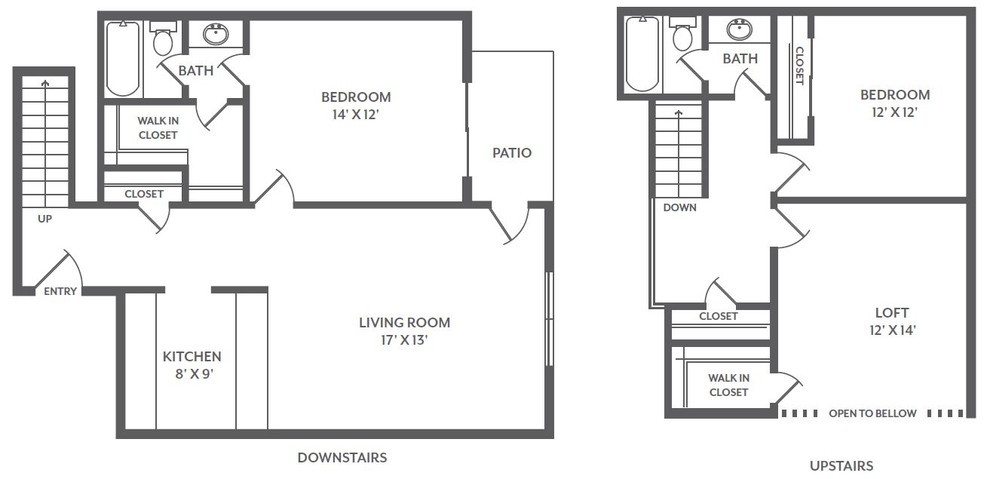 Floorplan - 2 Bed / 2 Bath image