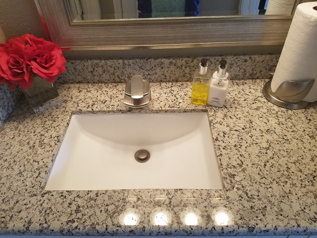 Bathroom Vanity at Grove on Gladstell Apartments in Conroe, Texas