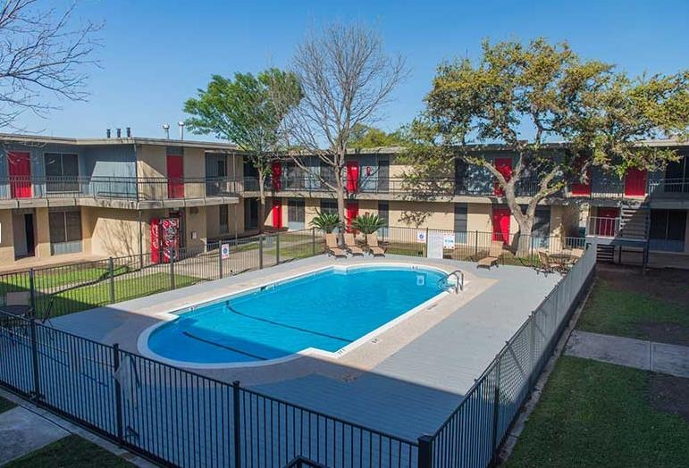Sparkling Pool at Hamilton Place Apartments in San Antonio, Texas