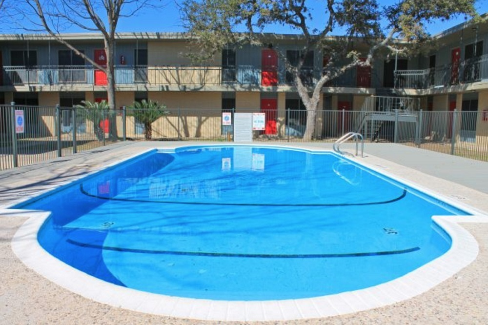 Outdoor Swimming Pool at Hamilton Place Apartments in San Antonio, Texas