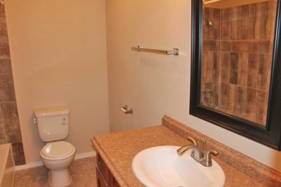 Spacious Bathroom Vanities at Hamilton Place Apartments in San Antonio, Texas