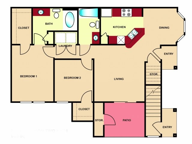 The Hamlins at Cedar Creek Lake - Floorplan - Tuscany
