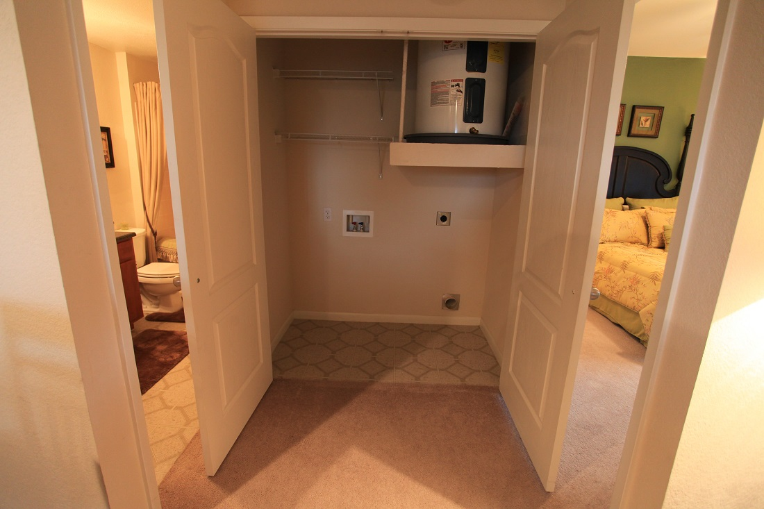 Washer and Dryer Hookups at The Hamlins at Cedar Creek Apartments in Kemp, Texas