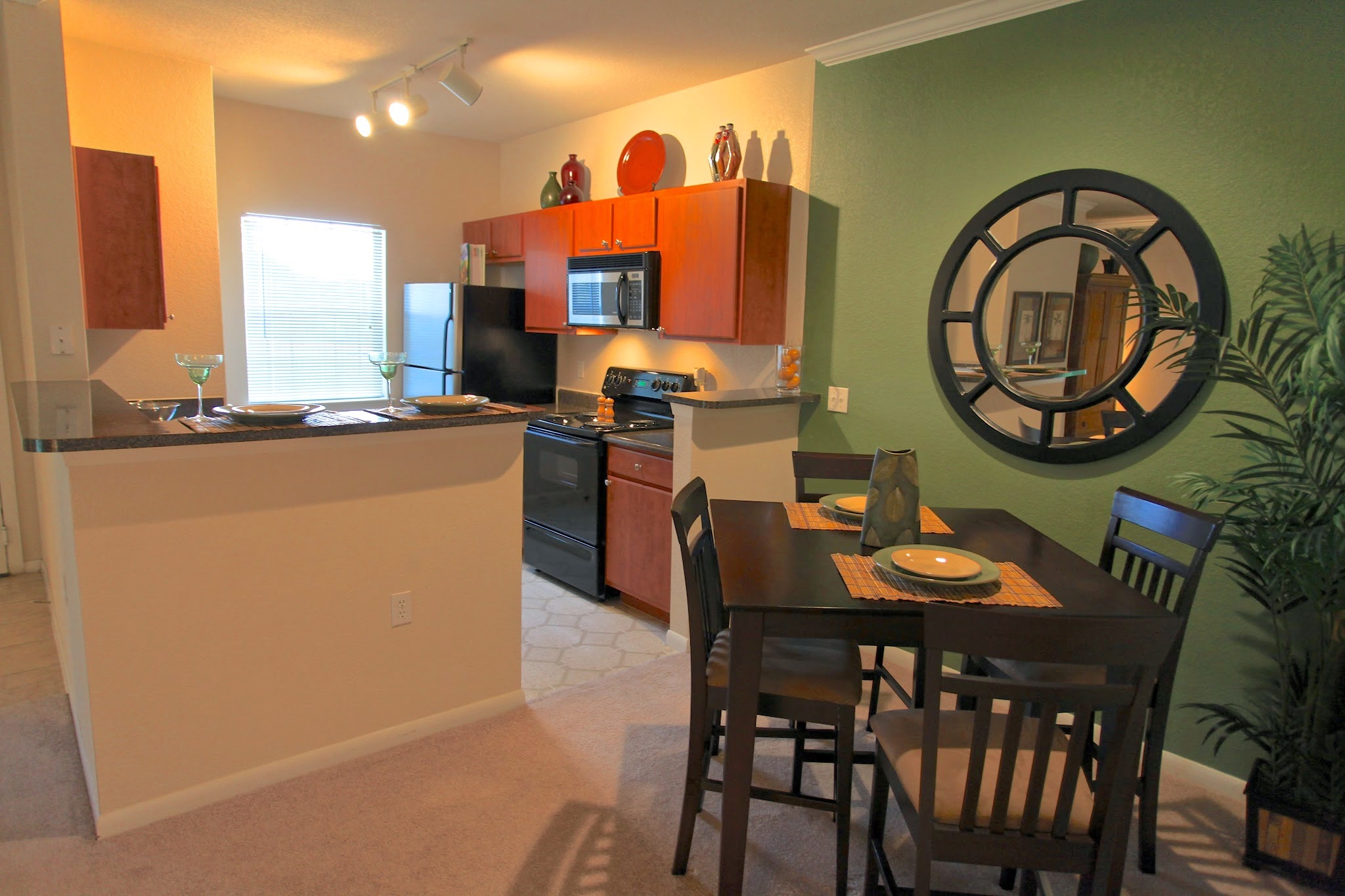Fully Equipped Kitchen at The Hamlins at Cedar Creek Apartments in Kemp, Texas