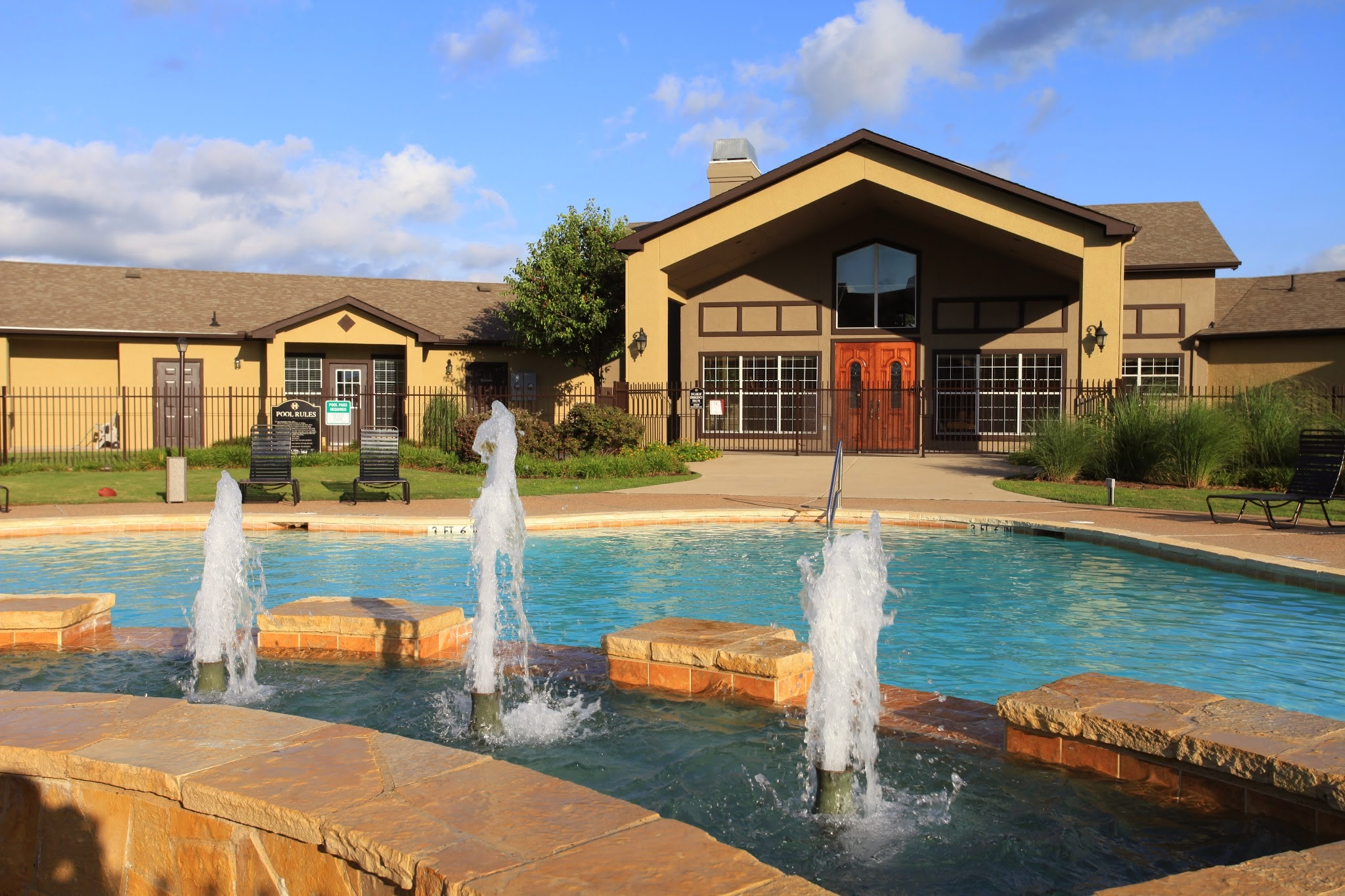 Resort-Style Pool at The Hamlins at Cedar Creek Apartments in Kemp, Texas