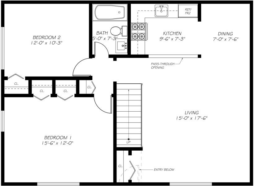 Floorplan - 2 beds image