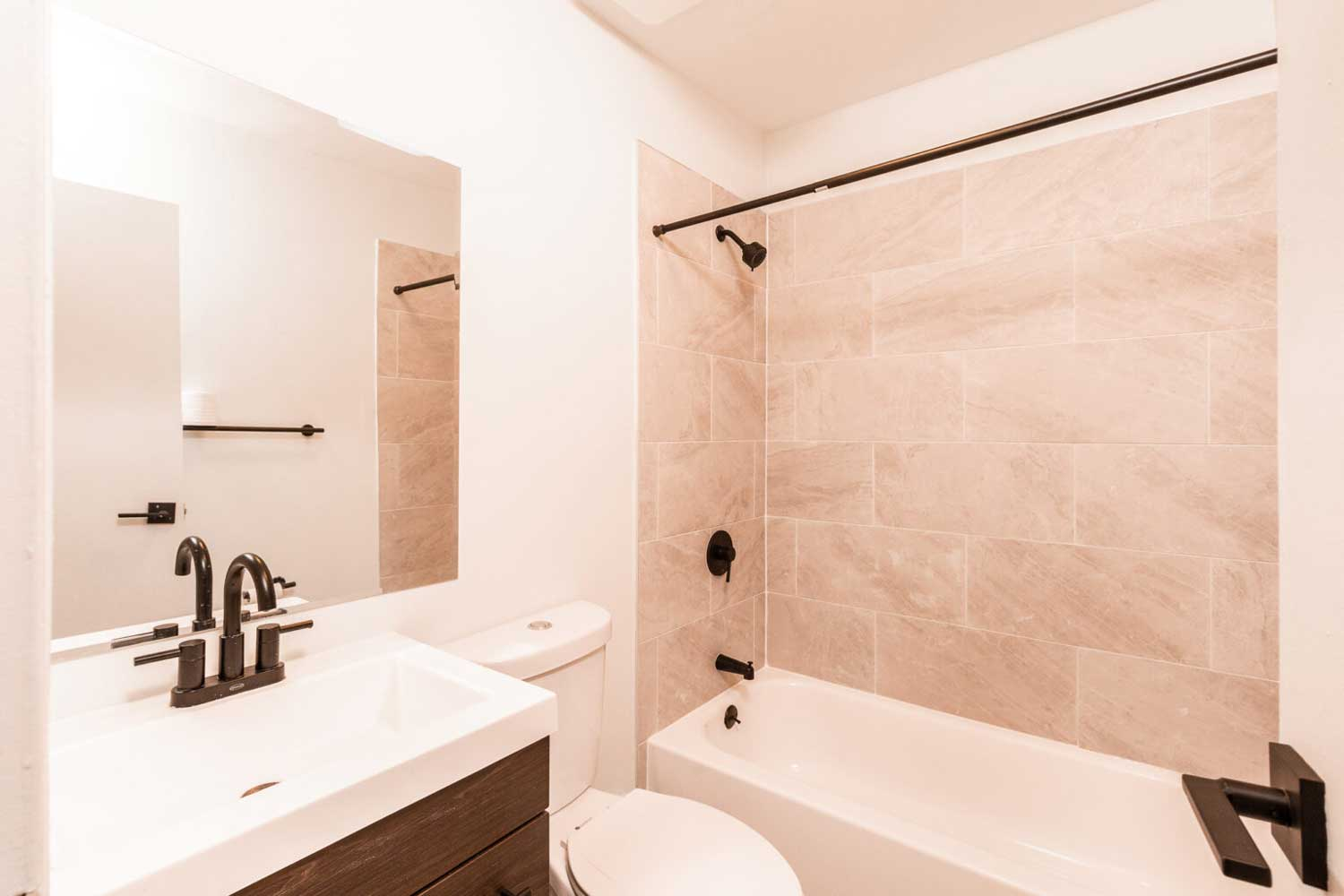 Bathroom at Hampton Gardens Apartments in Middlesex, New Jersey
