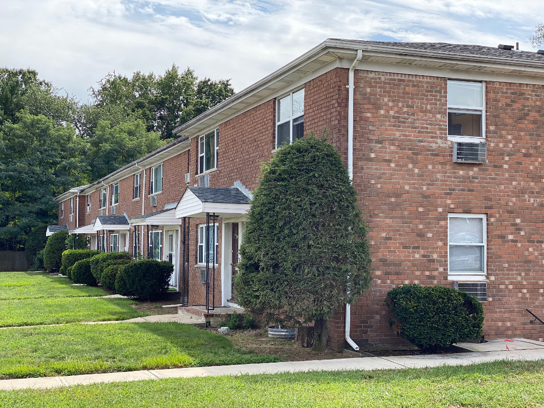 Brick Apartment Buildings at Hampton Gardens Apartments in Middlesex, New Jersey