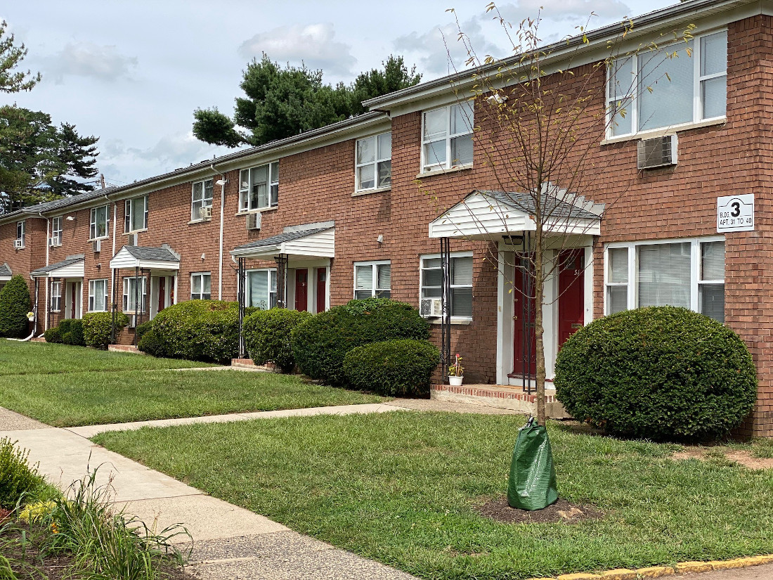 Sidewalks at Hampton Gardens Apartments in Middlesex, New Jersey